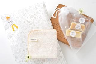 NEW【使い比べギフト】プチ石鹸とハンカチタオル
