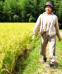 畑仕事をする高島さんの写真