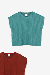 編み 四角衣 肩線(しかくい かたせん)