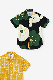 高島縮 半袖シャツ