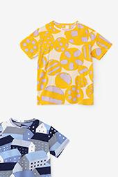 高島縮 半袖Tシャツ