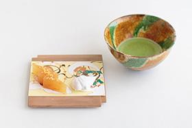 和菓子になったテキスタイルデザイン