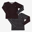 【le coq sportif】ボーダー 型ぬき長袖Tシャツ