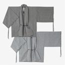 【傾衣】知多木綿 綿麻 絽 宮中袖 短衣 単