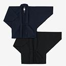 【傾衣】伊勢木綿20/20麻混 もじり袖 短衣