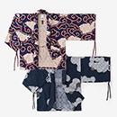 【傾衣】綿麻ジャカール 宮中袖 短衣 単