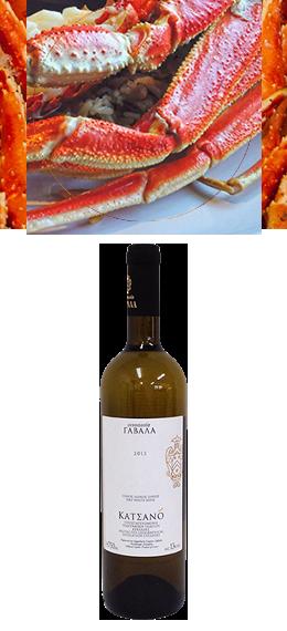 【カチャノ 白】日本であれば蟹が美味しいこの時期、カニ鍋、豚しゃぶなど鍋料理にお勧めします。