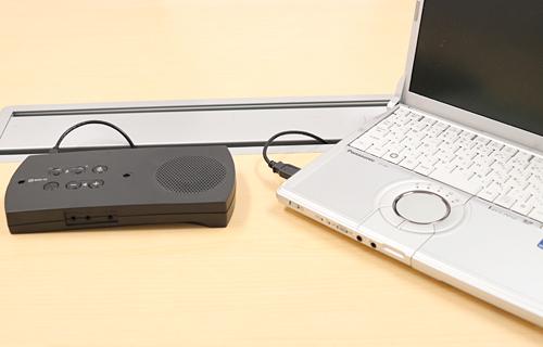 ノートPCとR-Talk 900を接続
