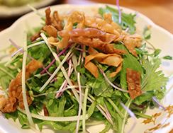 豆苗・スプラウト・水菜のグリーンサラダ