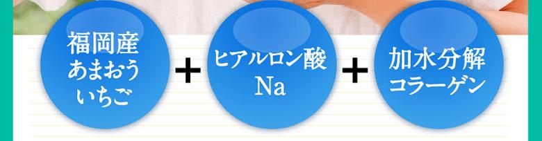 福岡産あまおういちご ヒアルロン酸Na 加水分解コラーゲン