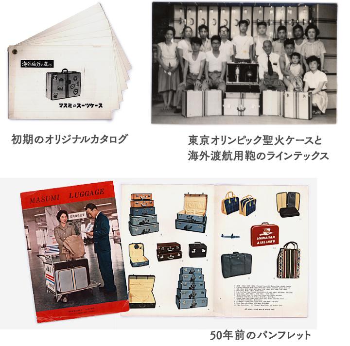 初期のオリジナルカタログ/東京オリンピック聖火ケースと海外渡航用鞄のラインテックス/50年前のパンフレット