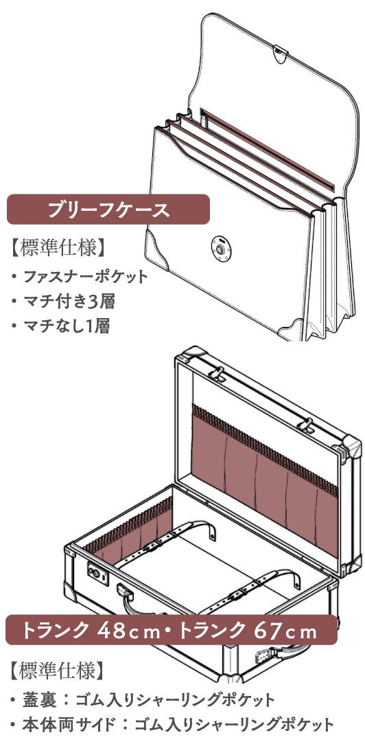 ブリーフケース/トランク48cm・トランク67cm