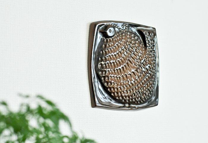 GABRIEL(ガブリエル釜)/陶器の壁飾り(鳥)/スウェーデン 01