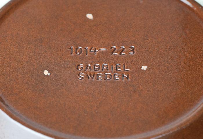 スウェーデン/GABRIEL(ガブリエル釜)/陶器のプレート/ビンテージ 詳細写真