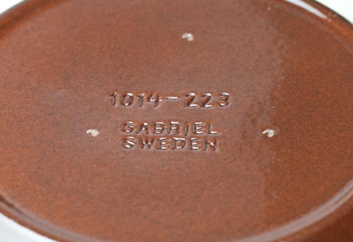 スウェーデン/GABRIEL(ガブリエル釜)/陶器のプレート 詳細写真
