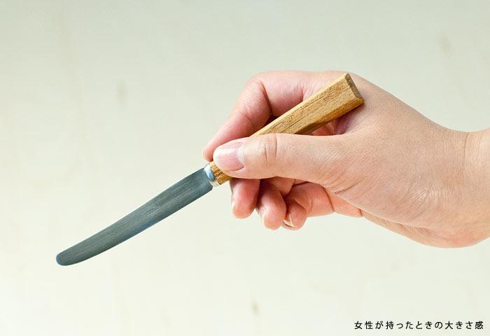 北欧で使われていた、チーク材の柄のついたバターナイフ/ビンテージ