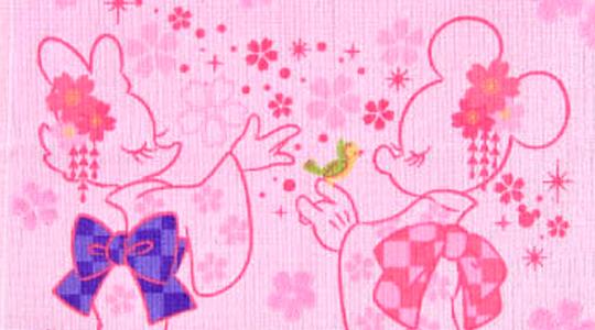 ディズニー桜ひらひら