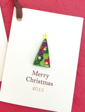 NK craft キラリナ 啓文堂書店 吉祥寺店ワークショップ クリスマスツリーのミニカード&マグネット