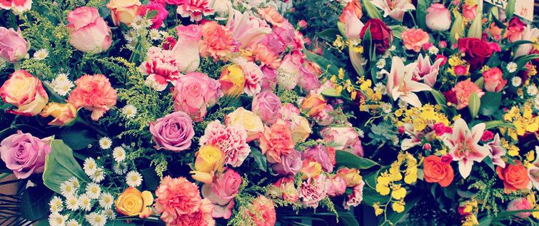 開店祝いスタンド花写真