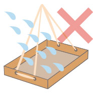 防水加工なしイメージ