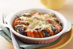 ミディトマトとなすのチーズ焼き