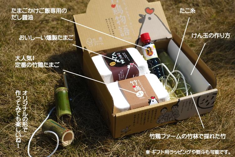 商品内容(段ボールギフト箱包装)