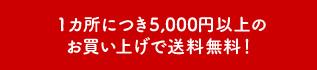 送料全国一律〇〇円!5千円以上のお買い上げで送料無料!