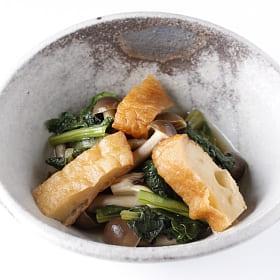 さつま揚げと小松菜の煮びたし