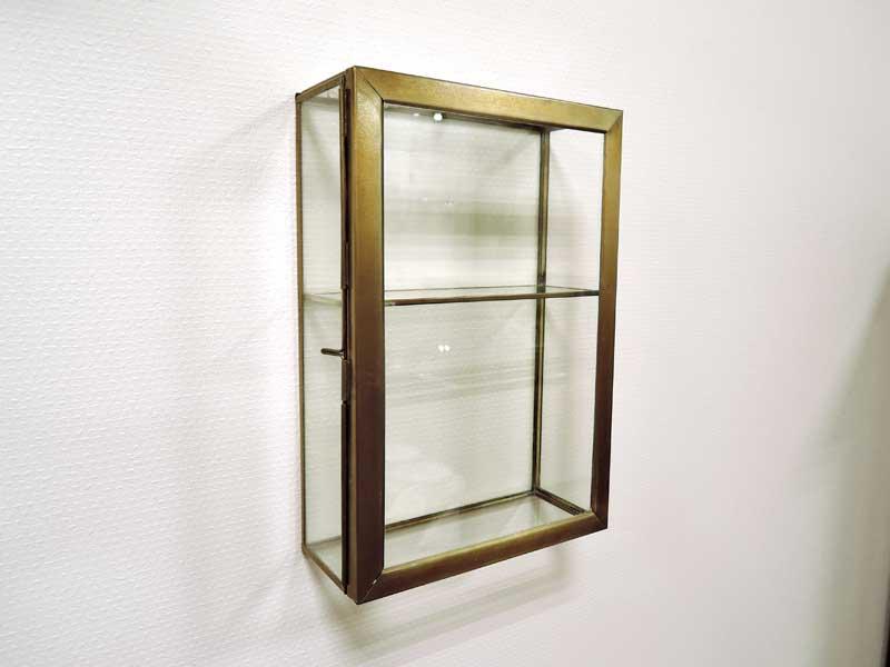 ブラス ガラスコレクション ウォールボックス L
