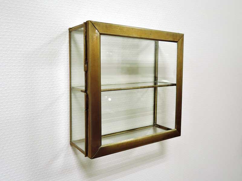 ブラス ガラスコレクション ウォールボックス S