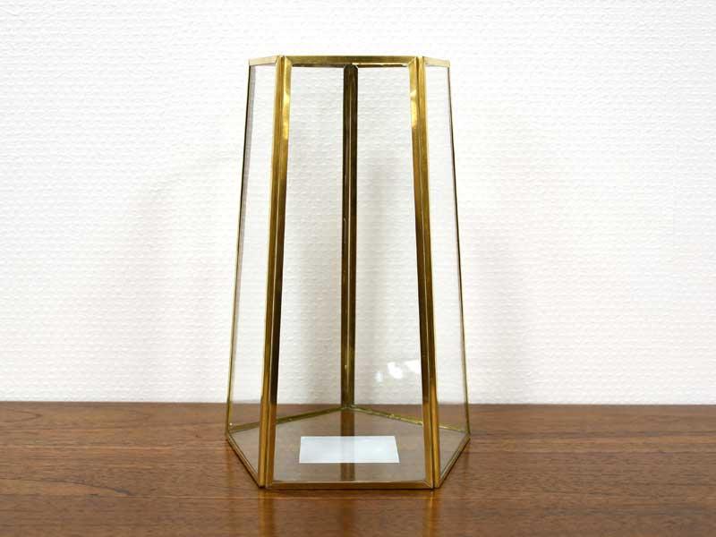 ブラスフレーム ガラスベース ペンタゴン