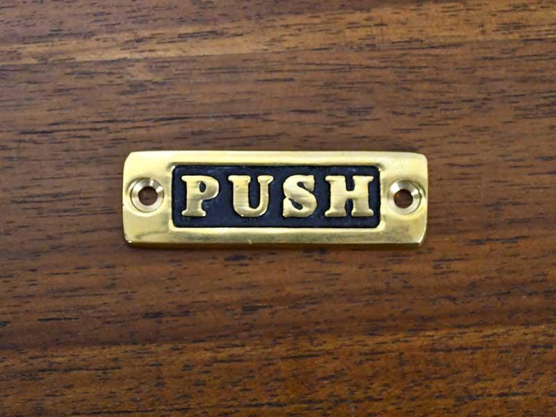 ブラスサイン PUSH