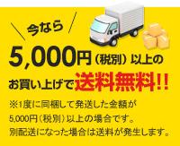 5千円以上のお買い上げで送料無料