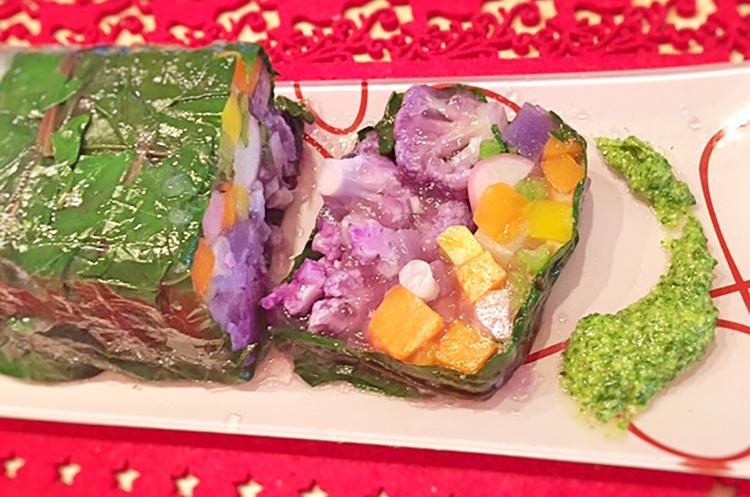 三浦野菜の贅沢テリーヌ かぶの葉ジェノベーゼソース