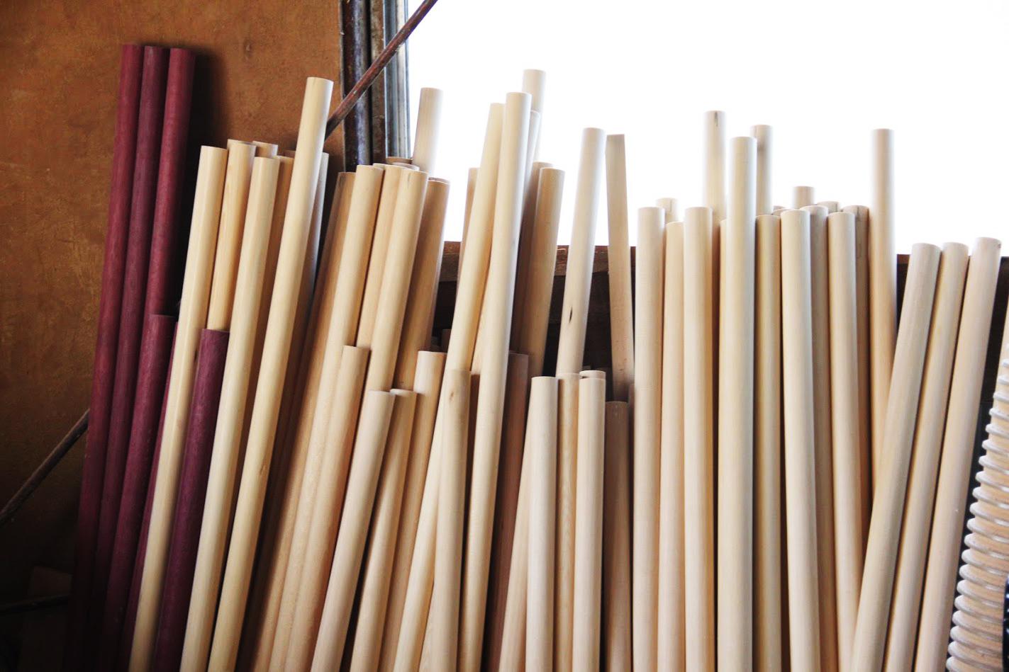 さまざまなサイズ・材質の麺棒