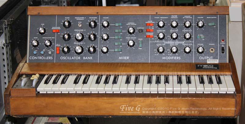 「MOOG MINIMOOG 前期型 MIDI LFO/SYNC/PWM改造 Five G-mod. (1)」