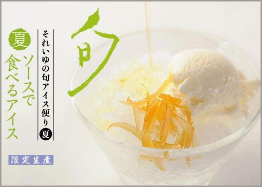 季節のおすすめ〈夏〉ソースで食べるアイス