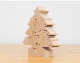 飾りがパズルのクリスマスツリー