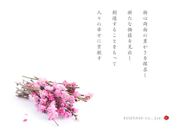 物心両面の豊かさを探求し 新たな価値を見出し 創造することをもって 人々の幸せに貢献す FUJIYASU Co., Ltd.