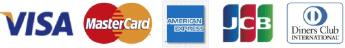 Visa/MasterCard/American Express/JBC/Diners Club