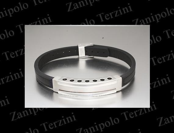 a1471-BK Zanipolo Terzini ザニポロ タルツィーニ ブレスレット(ブラックステッチ)