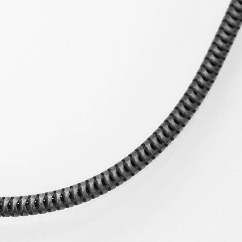 ブラック(燻し)スネークチェーンネックレスシルバー925