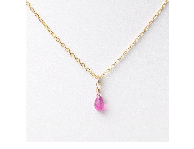ピンクサファイヤ ネックレス