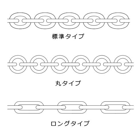 小判型チェーン 標準タイプ 丸タイプ ロングタイプ