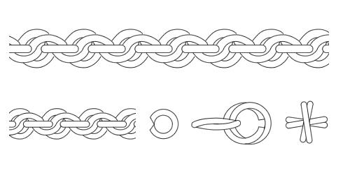 ロープ・縄・フレンチロープ系チェーン