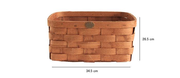 Peterboro basket bedside storage basket チェリー