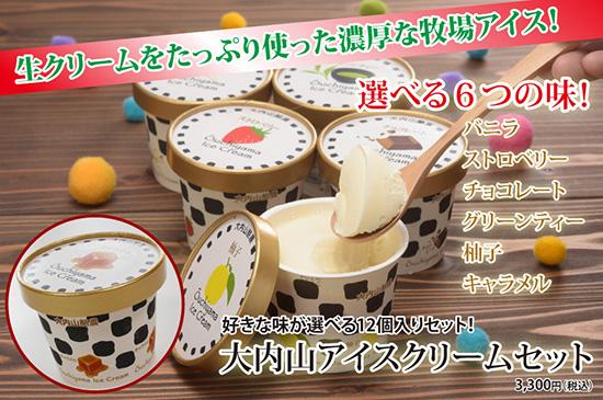 大内山アイスクリームセット