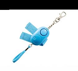 ベルト&ボタン付非常用ブザー ブルー