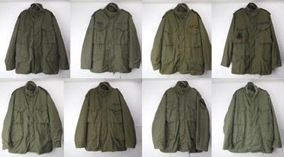 米軍 M-65フィールドジャケット
