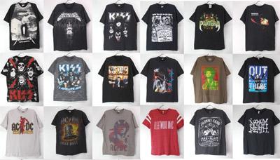 古着のバンドTシャツ